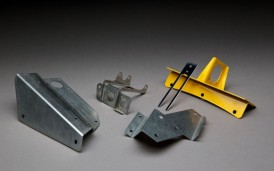 Examples of sheet metal parts from various materials, thicknesses and finishes.