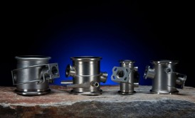 Examples of pneumatic valve bodies made of sheet metal, castings, and wrought bar stock.